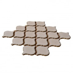 Tan Gazed Porcelain Mosaic Fireplace Waterjet Tile Lantern Ceramic Bathroom Backsplash Tiles HCHT005