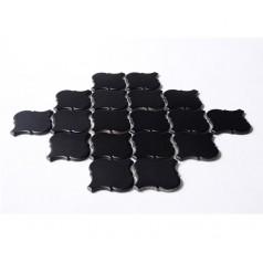 Black Porcelain Backsplash Tiles Lantern Ceramic Baking Bricks Waterjet Bathroom Wall Tile HCHT007