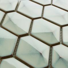 Beige Porcelain Bathroom Wall Mirror Backsplash Hexagon Ceramic Floor Tiles Glazed Brick XMGT606