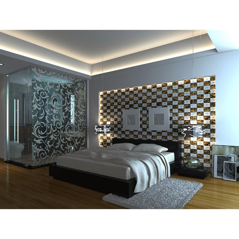 porcelain and glass wall tile backsplash fireplace crystal