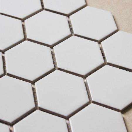 hexagon porcelain tile white matte porcelain slip-resistant tile washroom shower tile kitchen XMGT9BT