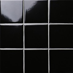 black SHINY porcelain tile NON-SLIP tile washroom wall tiles shower tile wall backsplashes XMGTG01