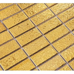 "Ceramic Pool Tile Mosaic Gold Wall Fireplace Decor 1"" x 2"" Brick Slip-Resistant Floor Tiles"