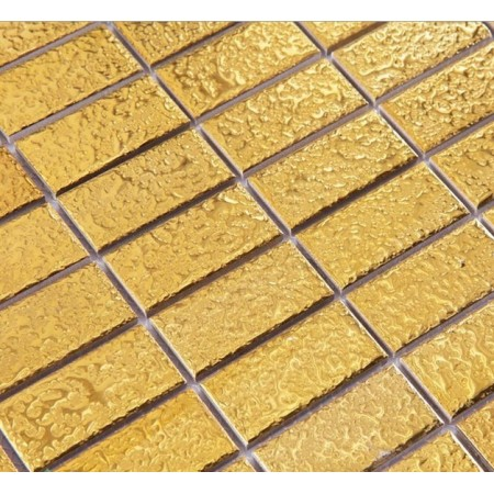 Porcelain Pool Tile Mosaic Gold  Strip Wall Fireplace Decor Brick Panel Interior Design Art Floors