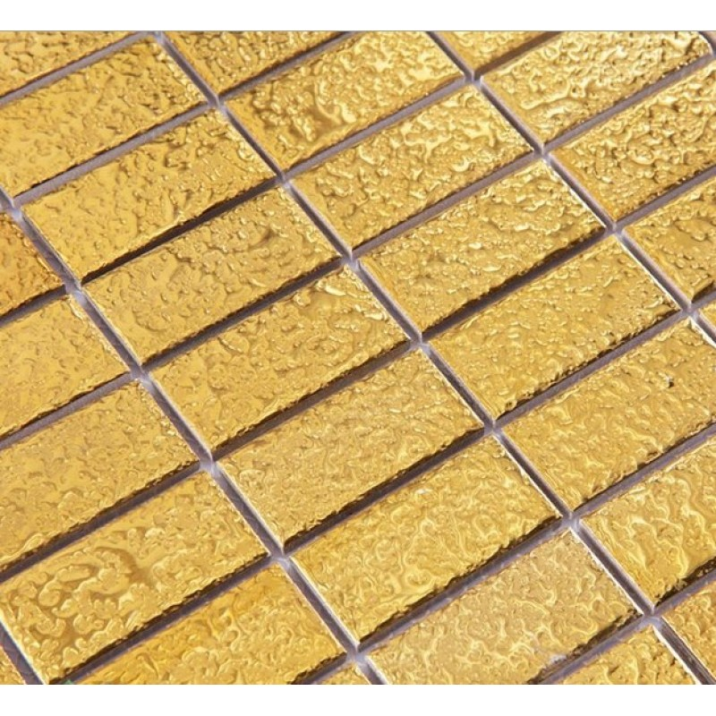 Ceramic Pool Tile Mosaic Gold Wall