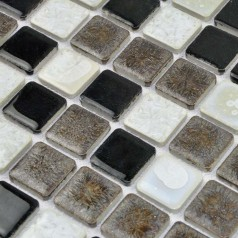Porcelain Tile Mosaic Square Surface Art Tiles Kitchen Backsplash Wall Sticker Bathroom Shower