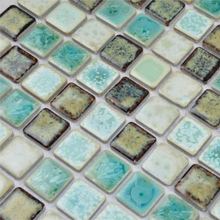 Porcelain Tile Mosaic Square Shower Tiles Kitchen Backsplash Wall Sticker Bathroom Bedroom Tiles