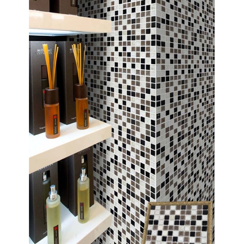 ... Porcelain Tile Mosaic Square Surface Art Tiles Kitchen Backsplash Wall  Sticker Bathroom Shower