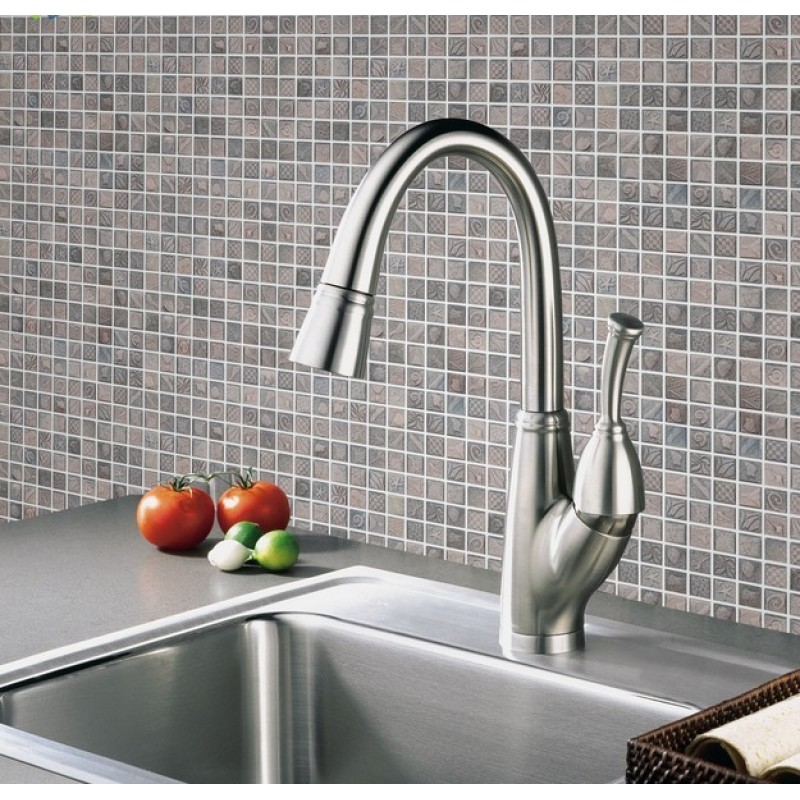 Kitchen Wall Tile Backsplash: Wholesale Porcelain Tile Mosaic Grey Square Ocean