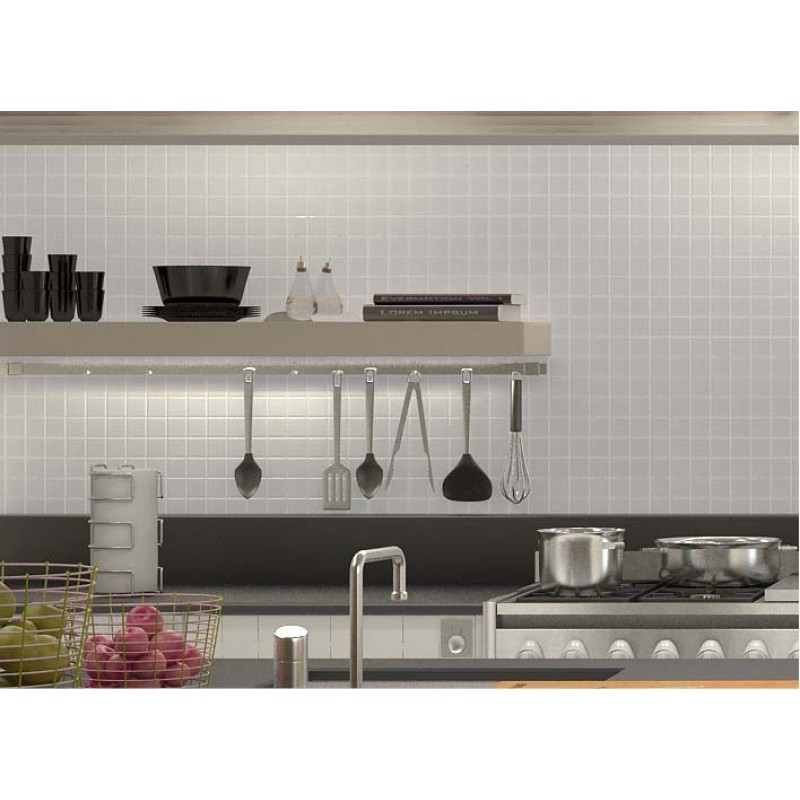 Kitchen Wall Tile Backsplash: Wholesale Porcelain Floor Tile Mosaic White Square Brick