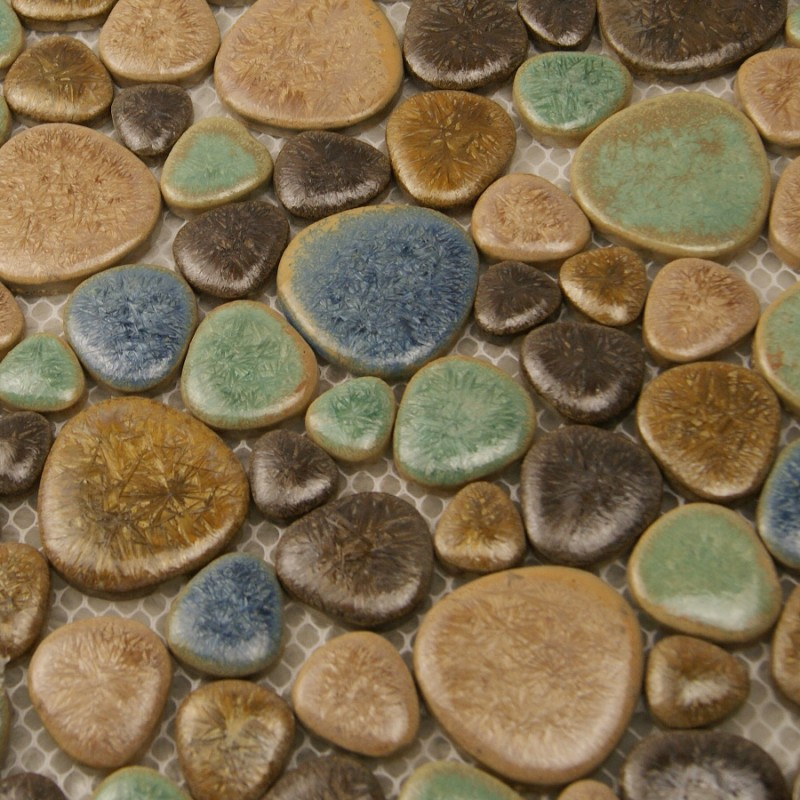 porcelain tile mosaic pebble design shower tiles kitchen backsplash