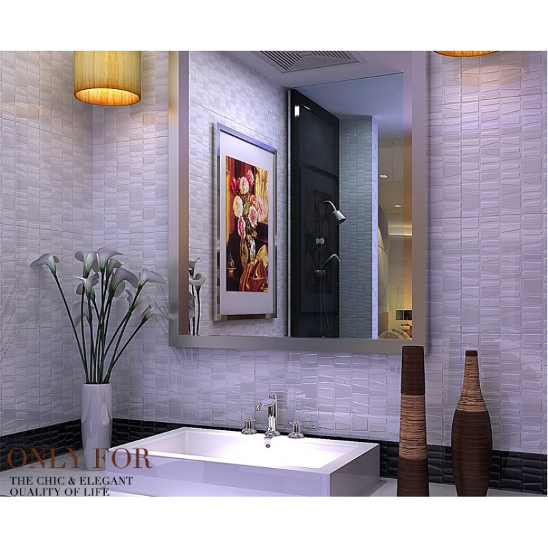 Wholesale Porcelain Bathroom Wall Interior Decorative Glazed Mosaic ...