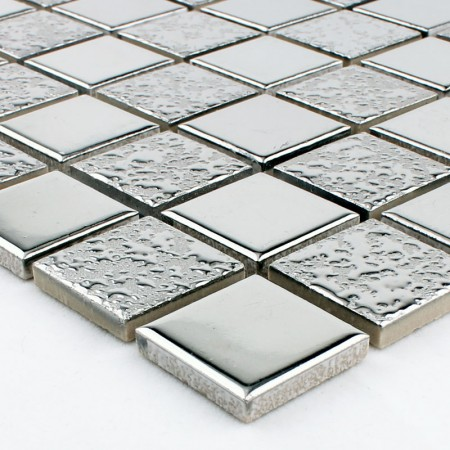 Gray Porcelain Mosaic Glazed Wall Tile Kitchen Backsplash Slip-Resistant Bathroom Floor Tiles