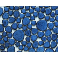 Glazed Porcelain Pool Tile Mosaic Pebbles Blue Ceramic Wall Tiles Backsplash Random Bricks BPP618A