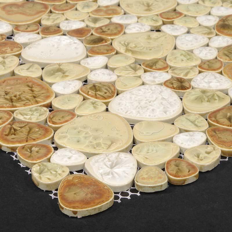Wholesale Heart-shaped Mosaic Art Collection Mixed Porcelain Pebble ...