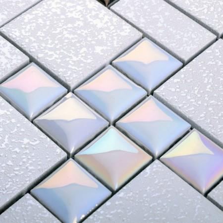 wholesale porcelain mosaic floor tile grey square