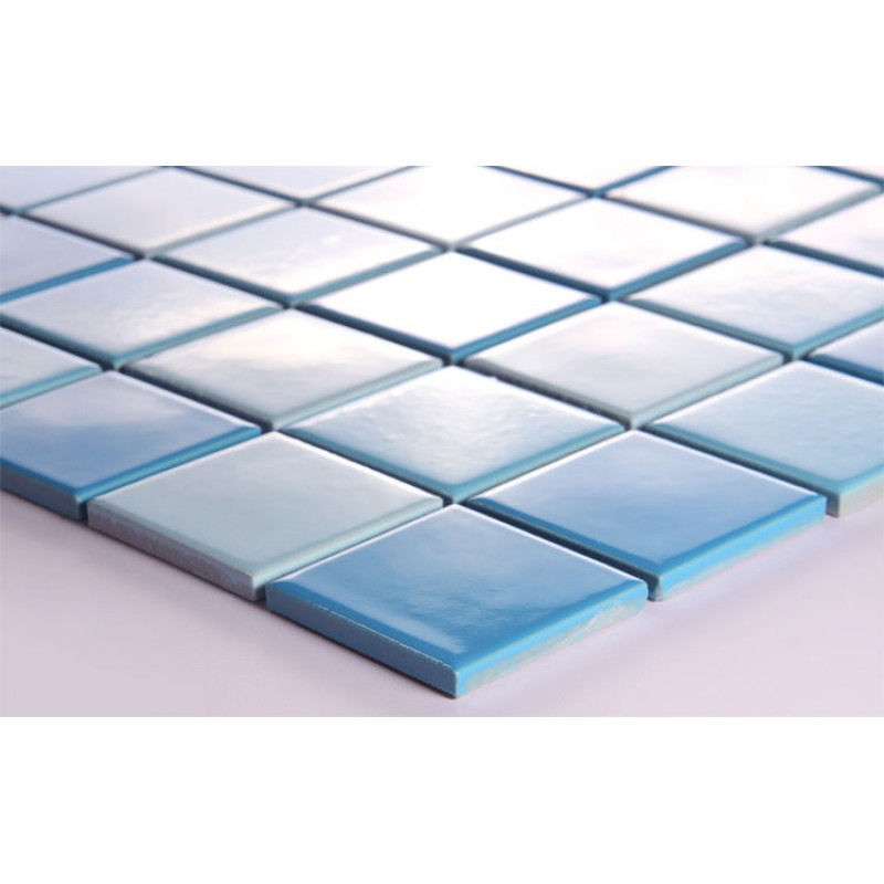 Glazed Porcelain Square Mosaic Tiles Wall Designs Blue Ceramic Tile