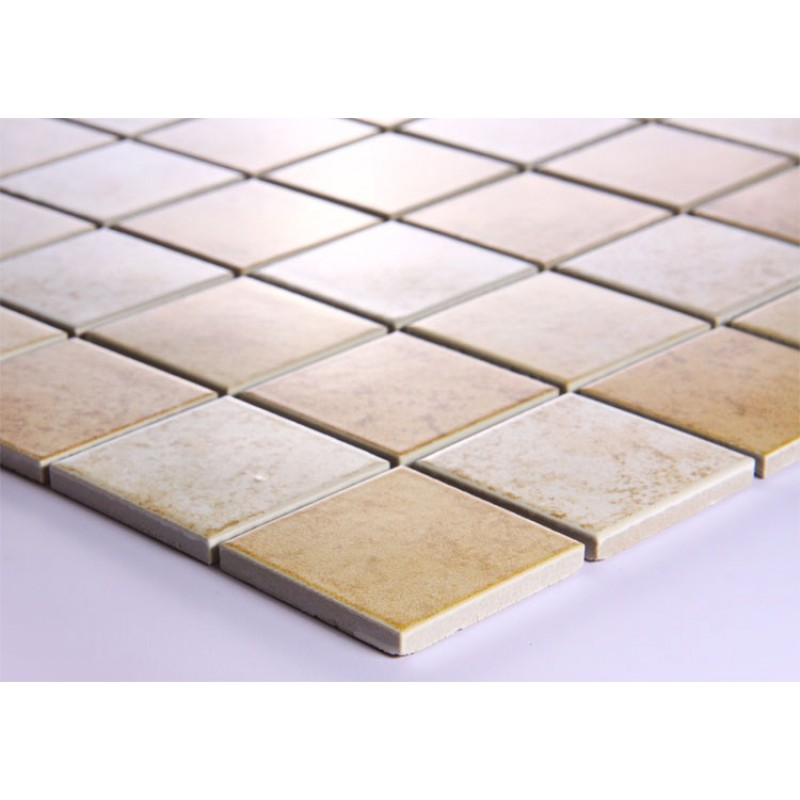 Kitchen Tiles Square: Beige Porcelain Square Mosaic Tiles Wall Designs Ceramic