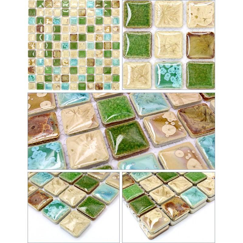Ceramic Tile Apartment Design: Glazed Porcelain Tile Square Mosaic Tiles Design Ceramic