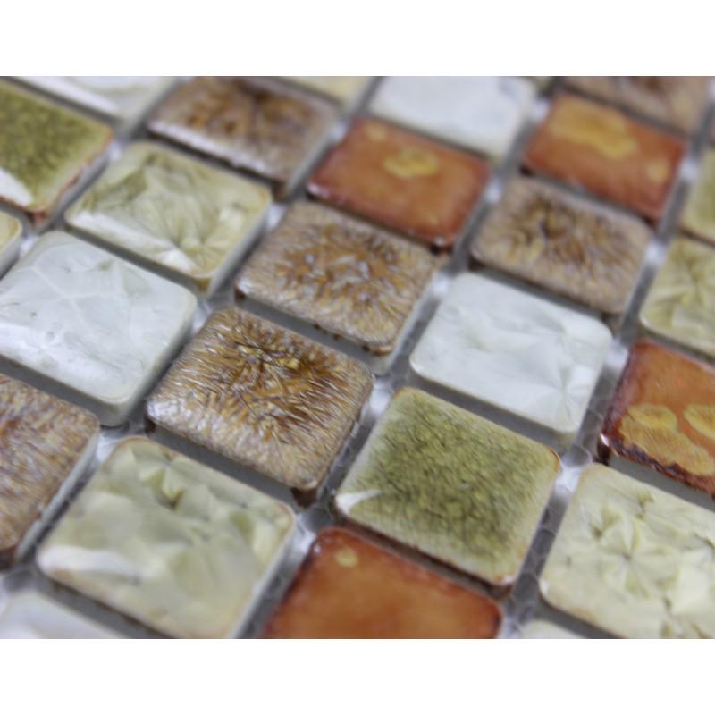 Ceramic Tile Apartment Design: Glazed Porcelain Square Mosaic Tiles Wall Designs Ceramic