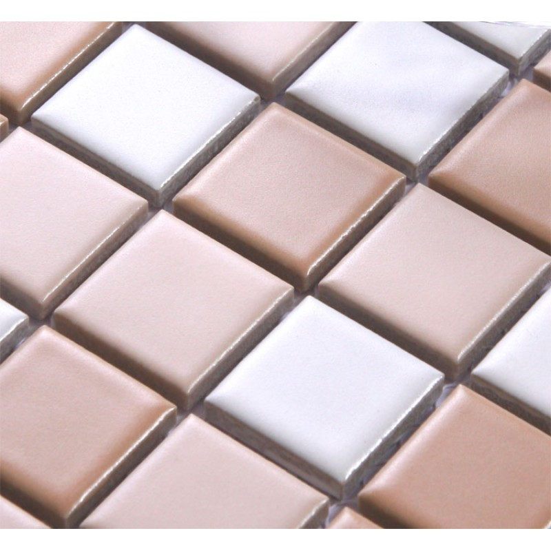 Beige Porcelain Square Mosaic Tiles Wall Designs Ceramic Tile Flooring Kitchen Backsplash Tc004