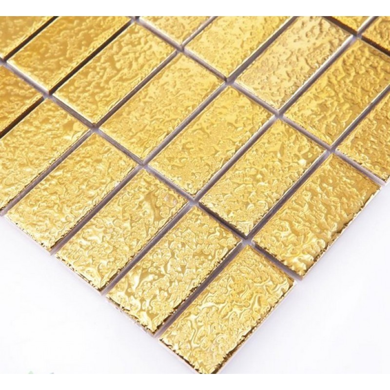 Ceramic Pool Tile Mosaic Gold Wall Fireplace Decor 1\