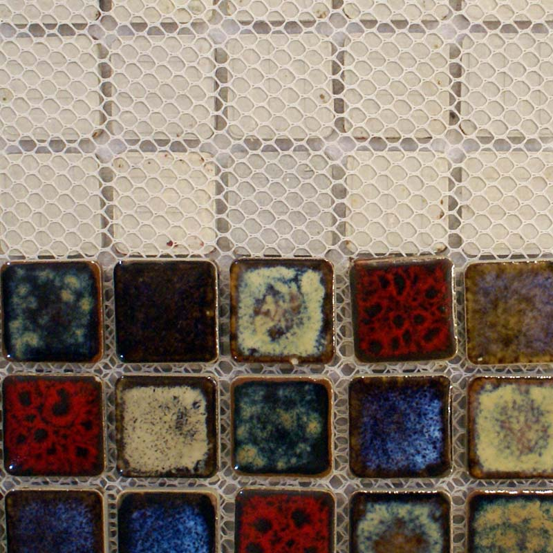 Italian Porcelain Tiles Square 1 Mosaic Tile Colorful