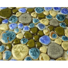 Glazed Porcelain Pebble Mosaic Tiles Design Ceramic Tile Walls Kitchen Backsplash AV0025