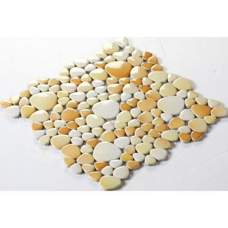 Wholesale Porcelain Pebble Mosaic Tiles Design Ceramic Tile Flooring Kitchen Backsplash FS1703