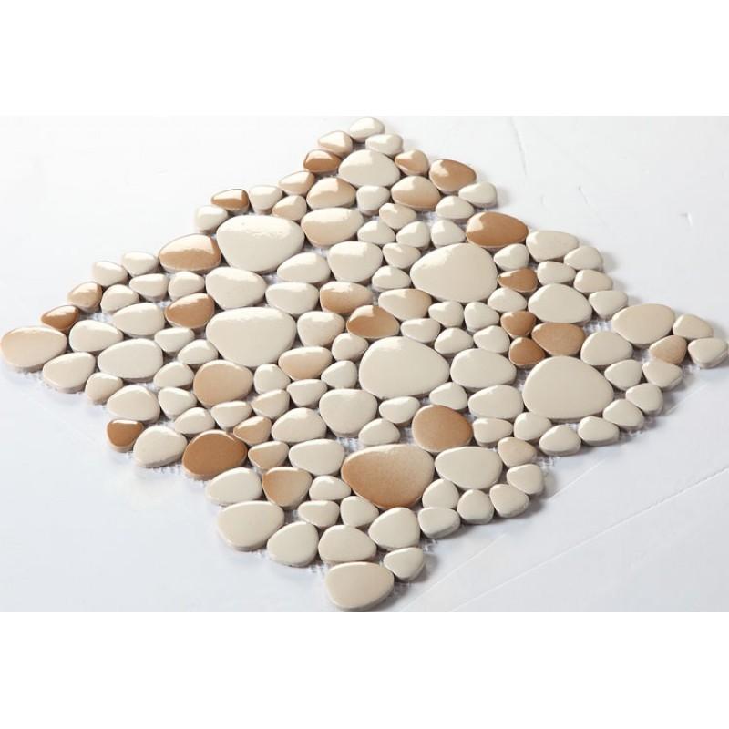 wholesale porcelain pebble mosaic tiles design ceramic