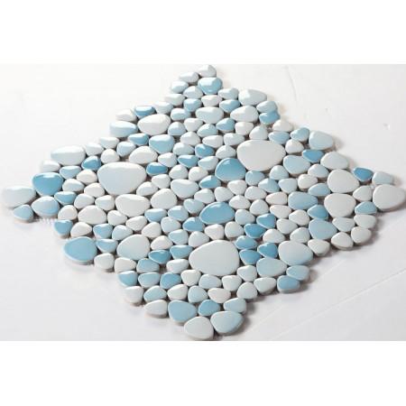 Wholesale Porcelain Pebble Mosaic Tiles Design Ceramic Tile Flooring Kitchen Backsplash FS1718