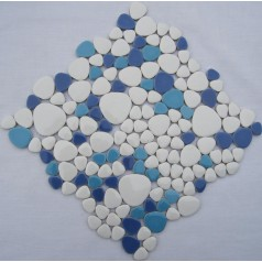Wholesale Porcelain Pebble Mosaic Tiles Design Ceramic Tile Flooring Kitchen Backsplash FS1719
