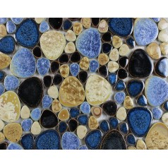 Glazed Porcelain Pebble Mosaic Tiles Designs Ceramic Tile Walls Kitchen Backsplash JH6655