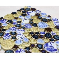 Wholesales Porcelain Pebble Mosaic Tiles Design porcelain tile flooring Kitchen Backsplash  JI-212