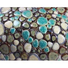 Glazed Porcelain Pebble Mosaic Tiles Wall Designs Ceramic Tile Flooring Kitchen Backsplash KL-5587
