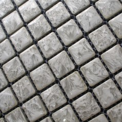 Porcelain Square Grey Mosaic Tiles Design Snowflake Style Kitchen Backsplash Wall Tiles ADT39