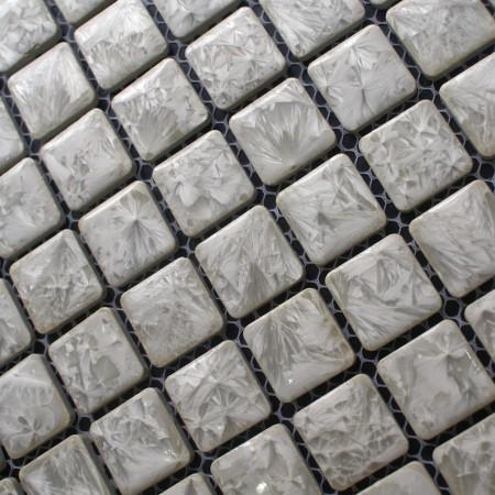 Porcelain Square Grey Mosaic Tiles Design Snowflake Style Kitchen Backsplash Wall Tiles ADT39
