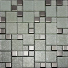 Crystal Glass Tiles Brushed Patterns Bathroom Wall Tile Plated Porcelain Mosaic Designs Kitchen Backsplash 001