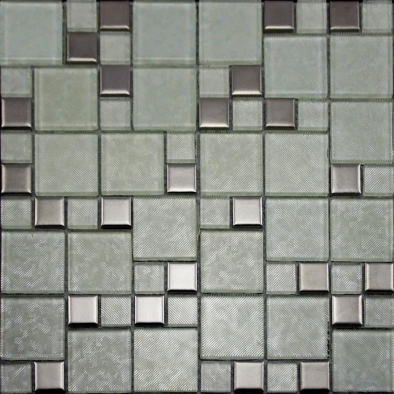 Ceramic Tile Apartment Design: Crystal Glass Tiles Brushed Patterns Bathroom Wall Tile