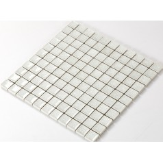 Crackle Glass Tile with Porcelain Base Bathroom Wall Tiles White Ice Cracked Crystal Glass Mosaic Tile Backsplash A001