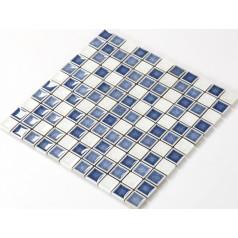 Crackle Glass Tile with Porcelain Base Bathroom Wall Tiles Blue Ice Cracked Crystal Glass Mosaic Tile Backsplash A003
