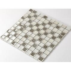 Crackle Glass Tile with Porcelain Base Bathroom Wall Tiles Ice Cracked Crystal Glass Mosaic Tile Backsplash A006