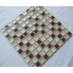 Crackle Glass Tile with Porcelain Base Bathroom Wall Tiles Ice Cracked Crystal Glass Mosaic Tile Backsplash A007