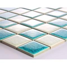 Crackle Glass Tile with Porcelain Base Swimming Pool Tiles Flooring Kitchen Backsplash Wall Mosaic DBL001