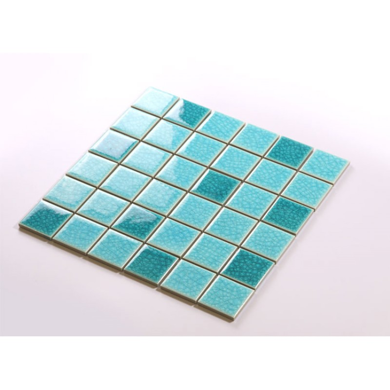 Crackle Glass Tile With Porcelain Base Swimming Pool Tiles Flooring Kitchen  Backsplash Wall Mosaic DBL004 ...