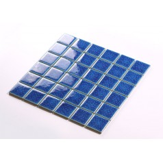 Blue Porcelain Square Mosaic Tiles Design Crackle Glass Bathroom Wall tile Kitchen Backsplash DBL006