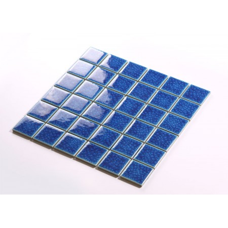 Blue Porcelain Square Mosaic Tiles Design Crackle Glass Bathroom Wall tile Kitchen Backsplash DBL006