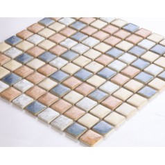 Glazed Porcelain Square Mosaic Tiles Design Ceramic Tile Walls Kitchen Backsplash DS-999