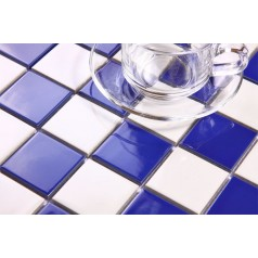 Glazed Porcelain Square Mosaic Tiles Wall Designs Ceramic Tile Swimming Pool Kitchen Backsplash DTC002