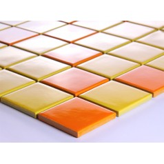 Yellow Porcelain Square Mosaic Tiles Wall Designs Ceramic Ttile flooring Kitchen Backsplash DTC004